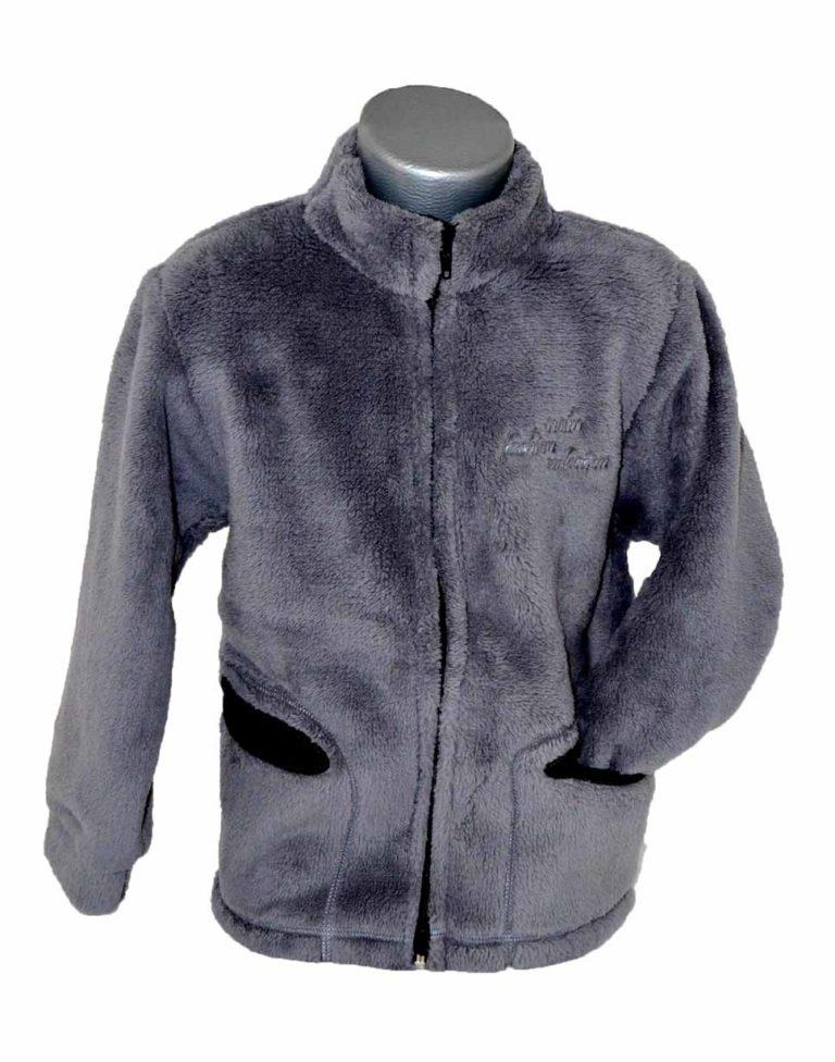 Chlapčenská mikina fleece Melm sivá