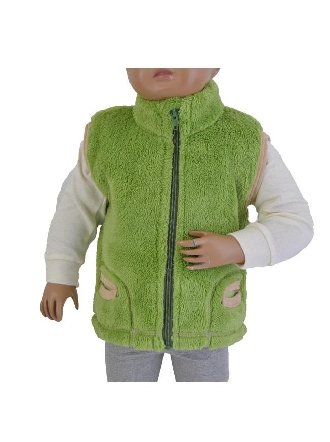 Detská vesta Melm unisex teplá zelená