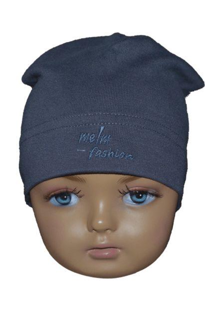 Detská čiapka Melm tmavosivá