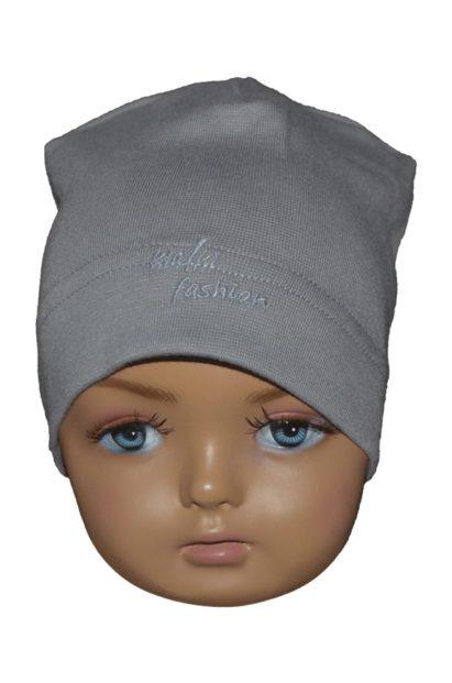 Detská čiapka Melm bledosivá