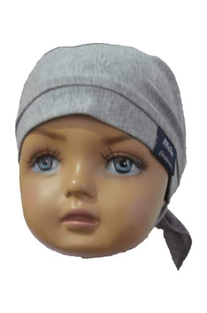 Šatka na hlavu pre deti Melm sivá