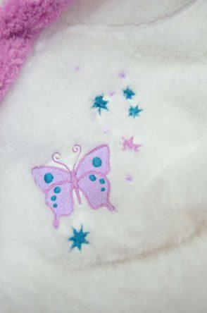 0aaf5cad57fc Župan pre dievčatá s kapucňou biely s ružovým lemom 74-158