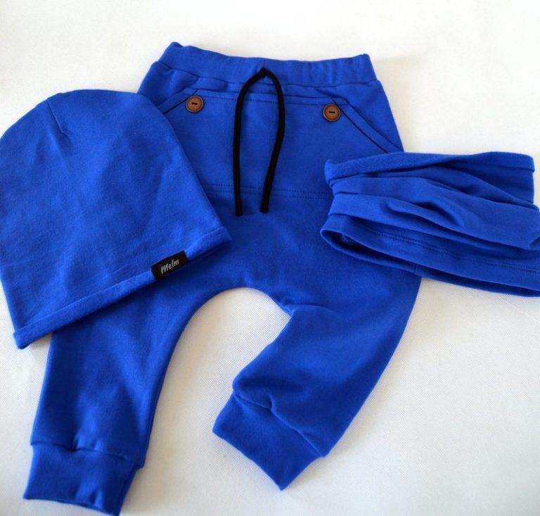 bd4cc5920 Pudlové tepláky zateplené pre deti Melm modré dlhé 74-116 | Melm Fashion